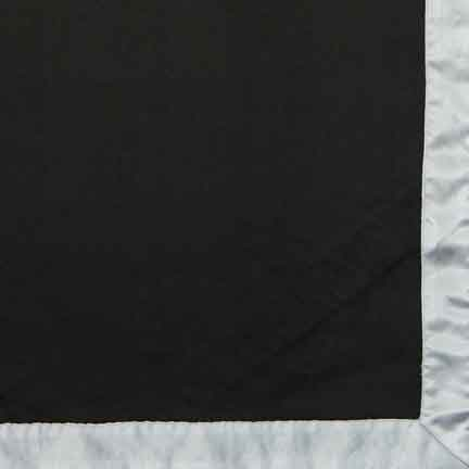 Napkin, Black Satin with White Satin Edge