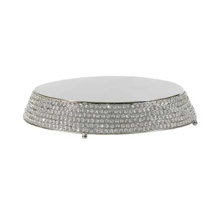 Cake Stand - Silver Crystal Pave