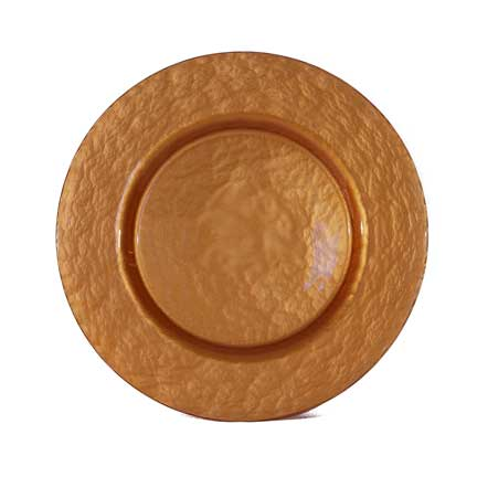 Charger Plate, Glass Copper