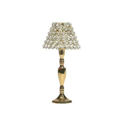 Crystal Pave Candle Lamp - Gold
