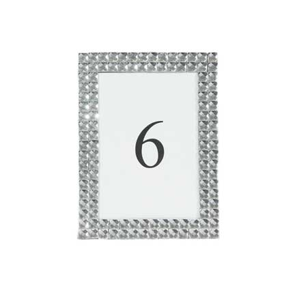 Crystal Pave Table Number Frame