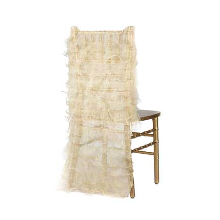 Embellishments, Chair Back Ruffle - Gold