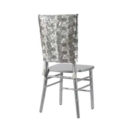 Embellishments, White Deco Sequin Chair Back