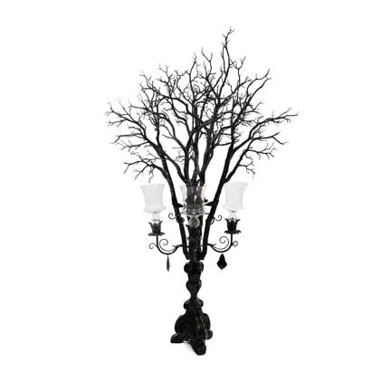 French Candelabra - Black, with Branches