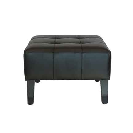 Furnishings, Black Ottoman