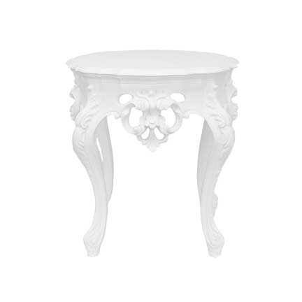 Furnishings, White Side Table