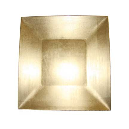 Charger Plate, Gold Acrylic - Square