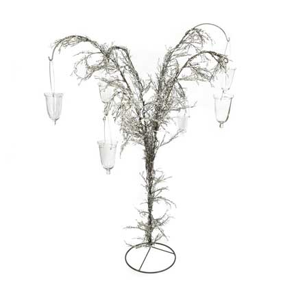 Iron Centerpiece Holder - 6 Arm with Icicles