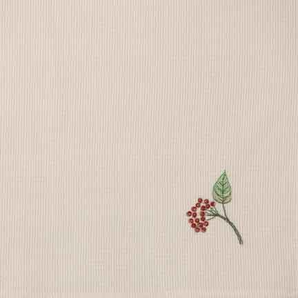 Napkin, Ivory Pique with Berry