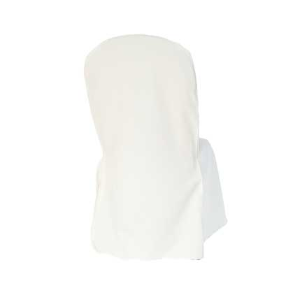 Chair Cover, Ivory Poly Broad Back