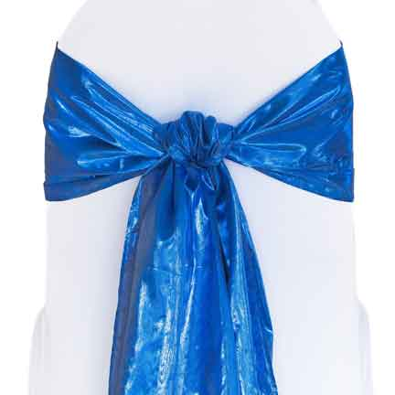 Sash, Royal Blue Tissue Lame