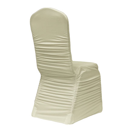 Chair Cover, Ruched - Ivory
