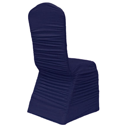Ruched Chair Cover - Navy