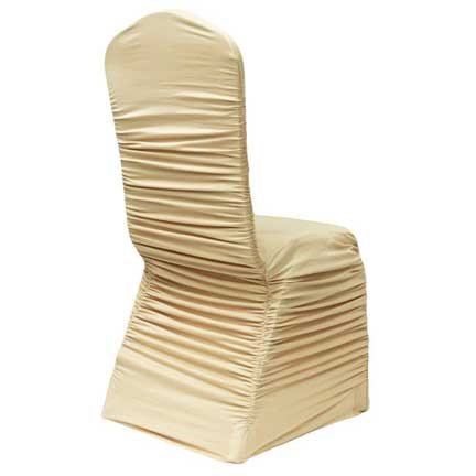 Ruched Chair Cover - Soft Gold