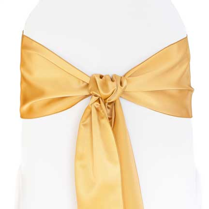 Sash, Satin - Gold