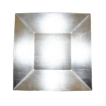 Charger Plate, Silver Acrylic - Square