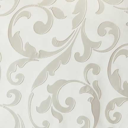 Napkin, Vanilla Cream Damask with Antique White Back