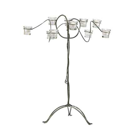 Wild Wire Candelabra - Wrought Iron