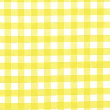 Beau Tablecloth, Yellow And White Check
