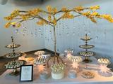 Iron Centerpiece Holder - Gold Tree for 8' table - Detail Image Three