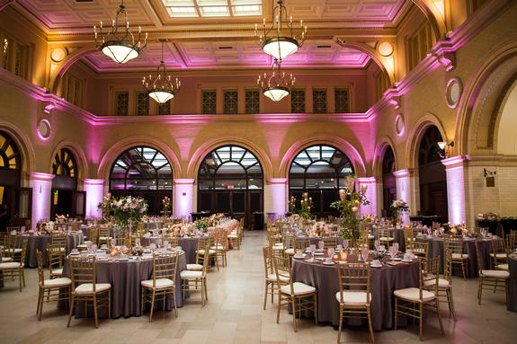 Chic Pink Wedding at The Depot. Linen Effects wedding, party, and event rental decor. Minneapolis, MN. www.lineneffects.com | Photo by J. Stoia Portrait Design